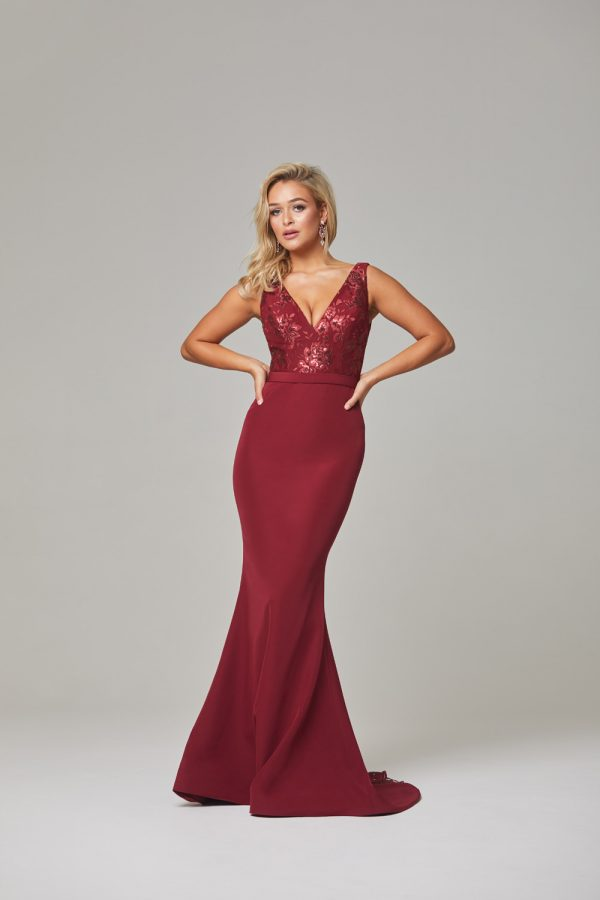 Blakely Evening Dress-Wine