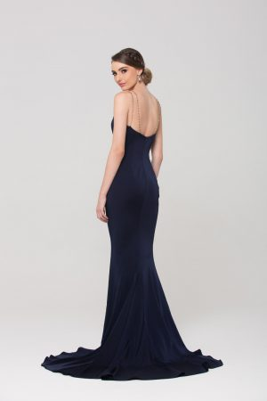 Bree fitted evening dress back