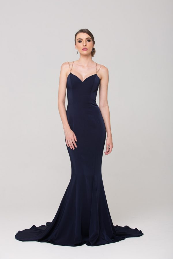 Bree fitted evening dress