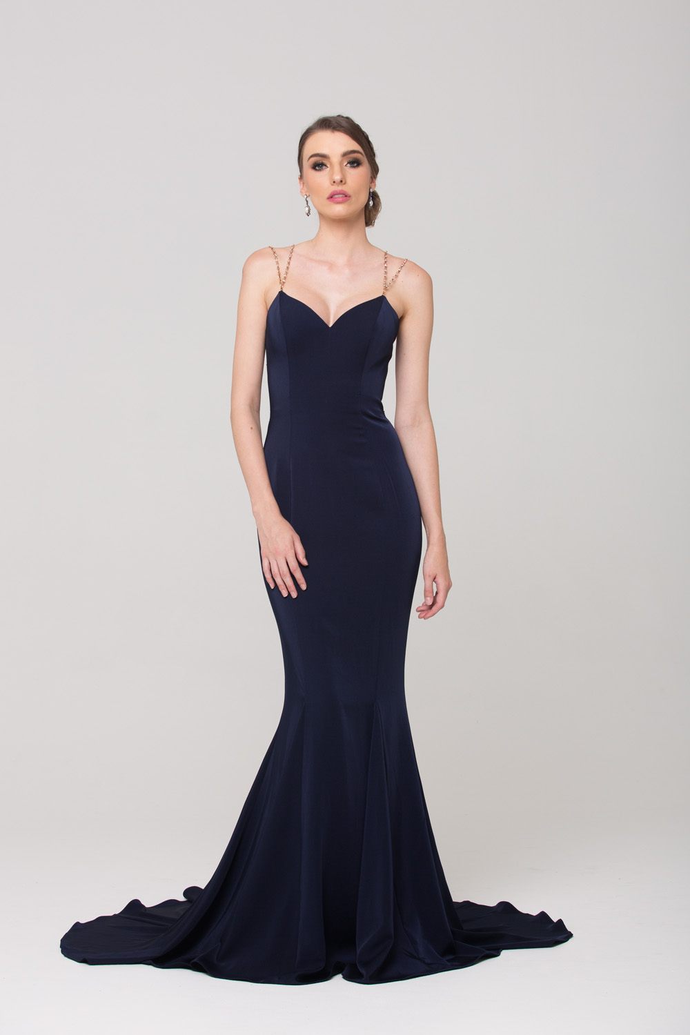 Bree Fitted Evening Dress Sentani Boutique