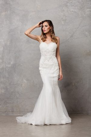 Charlize thin strap wedding dress