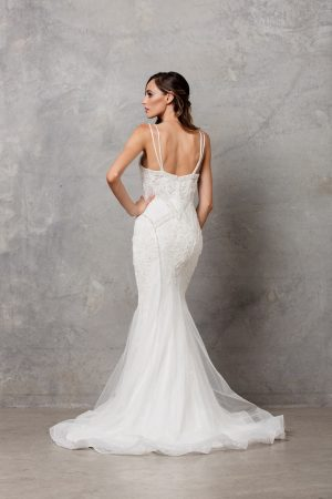 Charlize thin strap wedding dress back