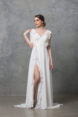 Clover boho wedding dress