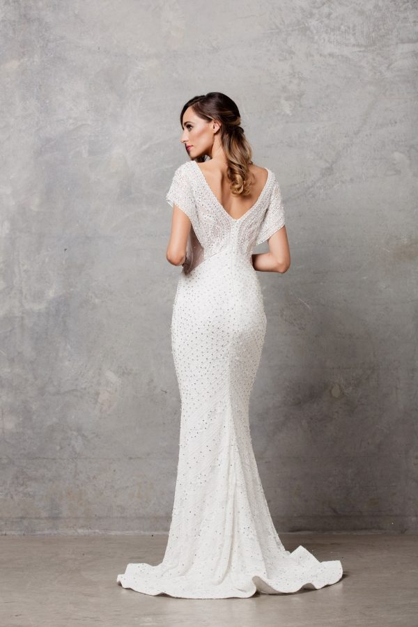 Farrah Beaded Wedding Dress back