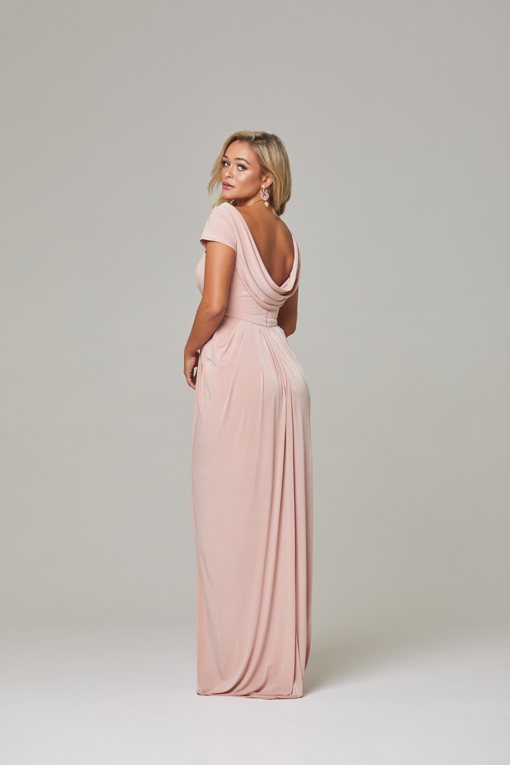 Gloria Bridesmaid Dress-blush-back