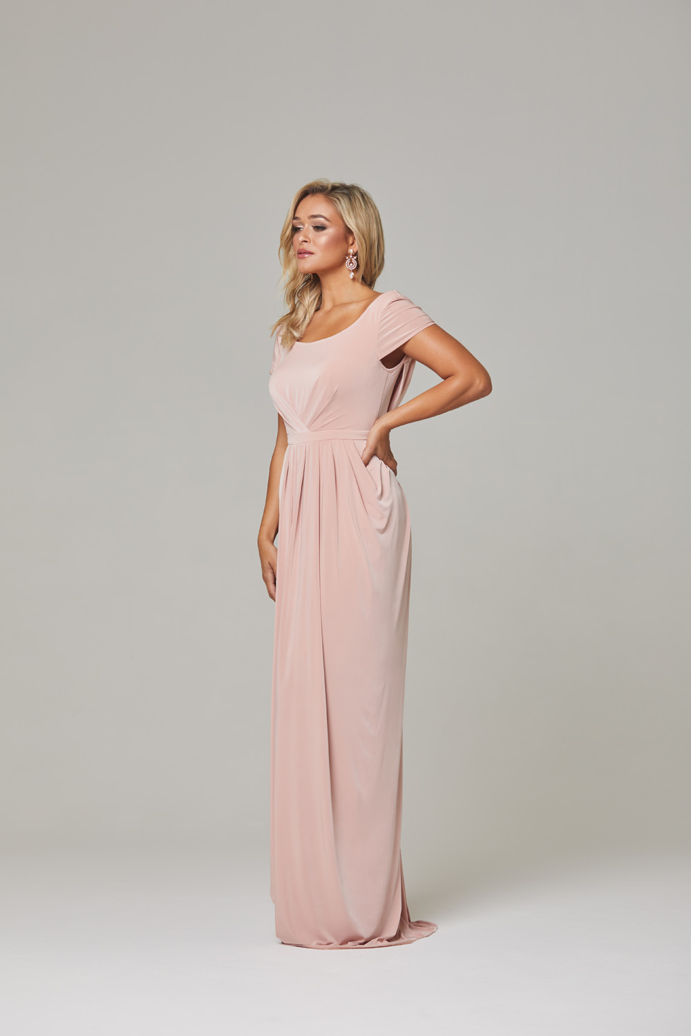 Gloria Bridesmaid Dress-blush-side