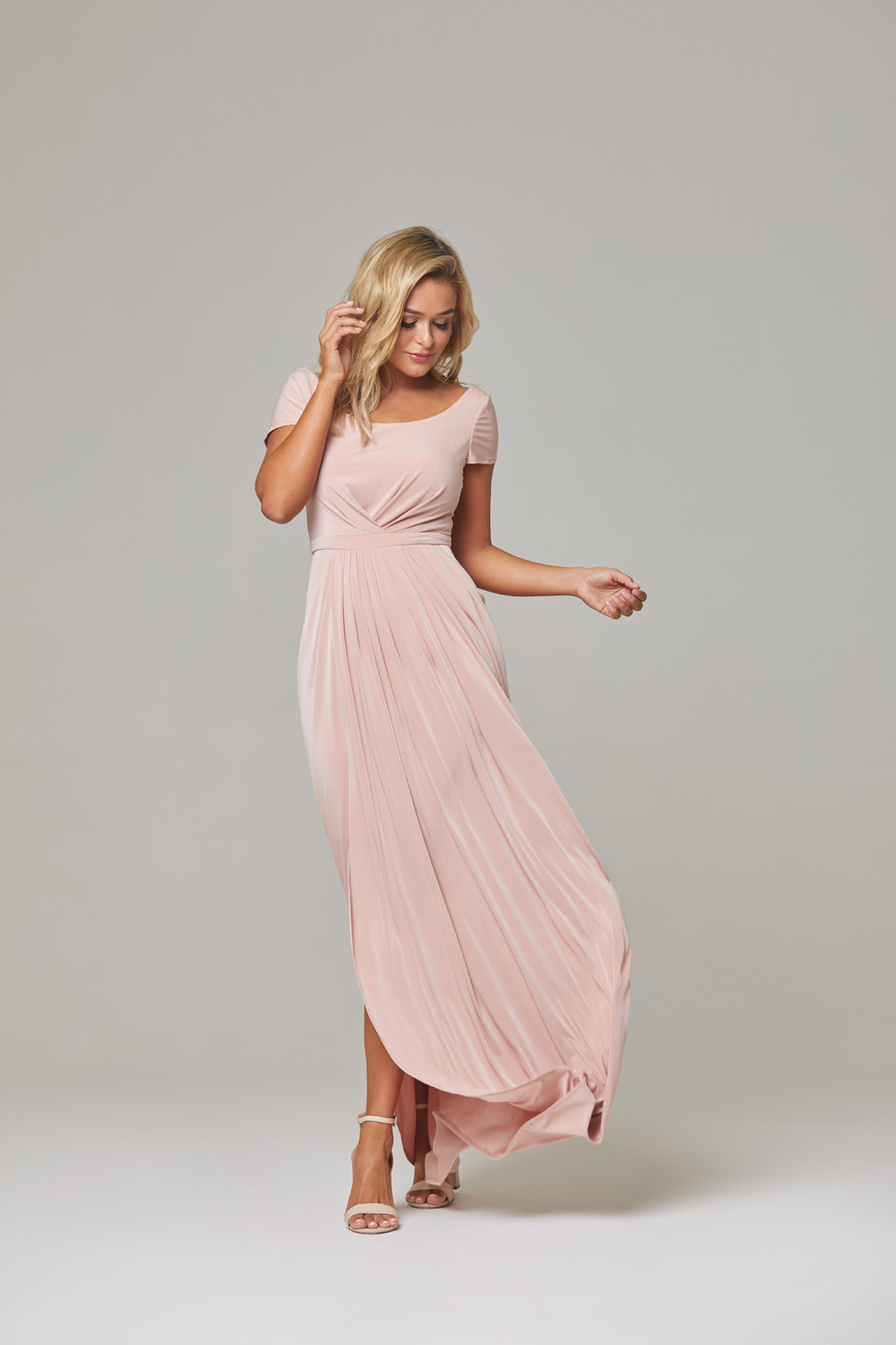 Gloria Bridesmaid Dress-blush