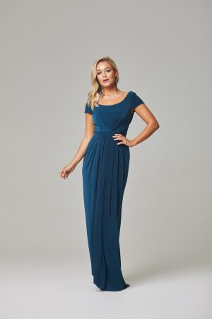 Gloria Bridesmaid Dress-Teal