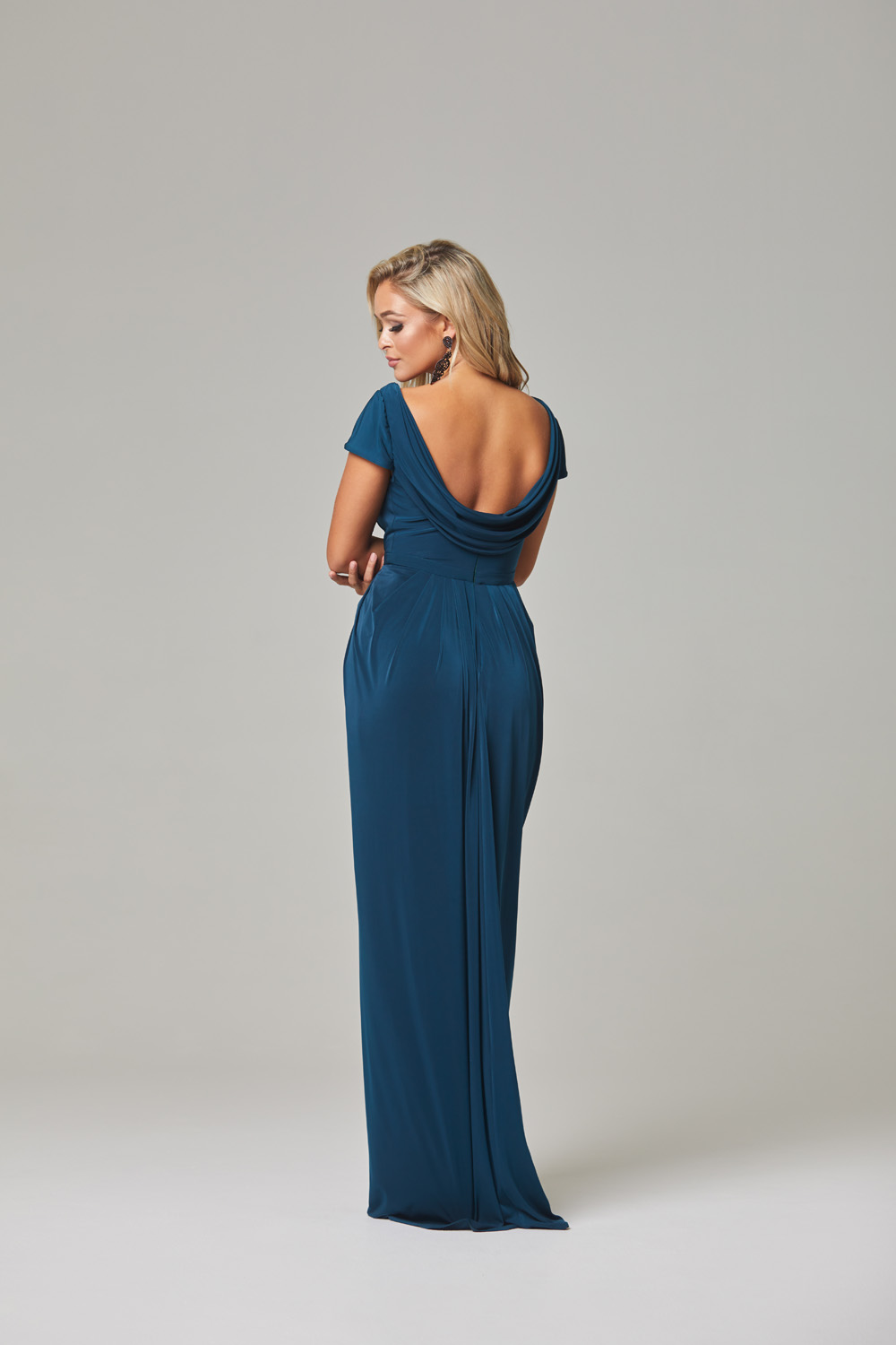 Gloria Bridesmaid Dress-Teal-back
