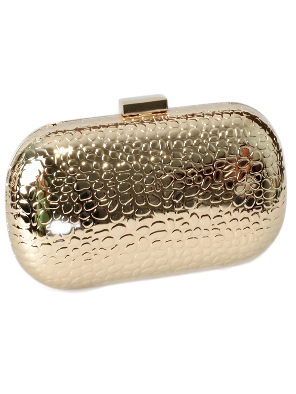 gold metallic clutch