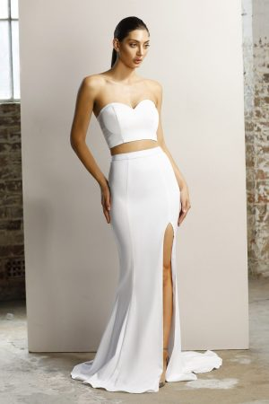 Harlea strapless two-piece formal dress