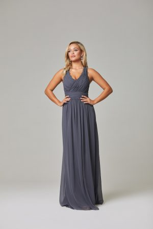Karlee Bridesmaid Dress-Charcoal