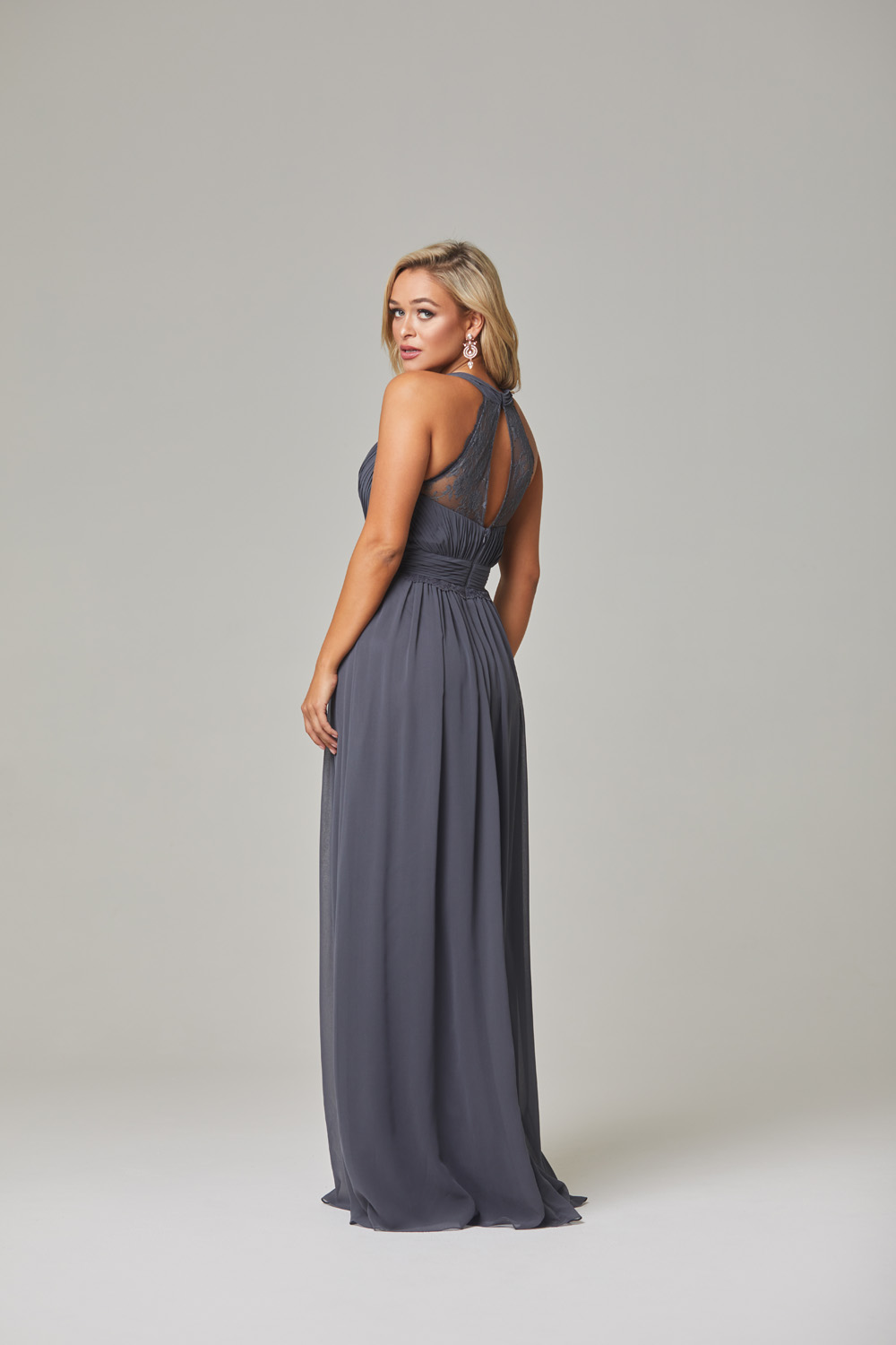Karlee Bridesmaid Dress-Charcoal-back