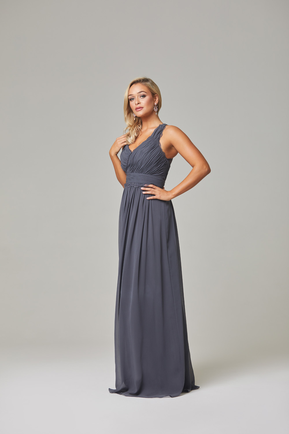 Karlee Bridesmaid Dress-Charcoal-side