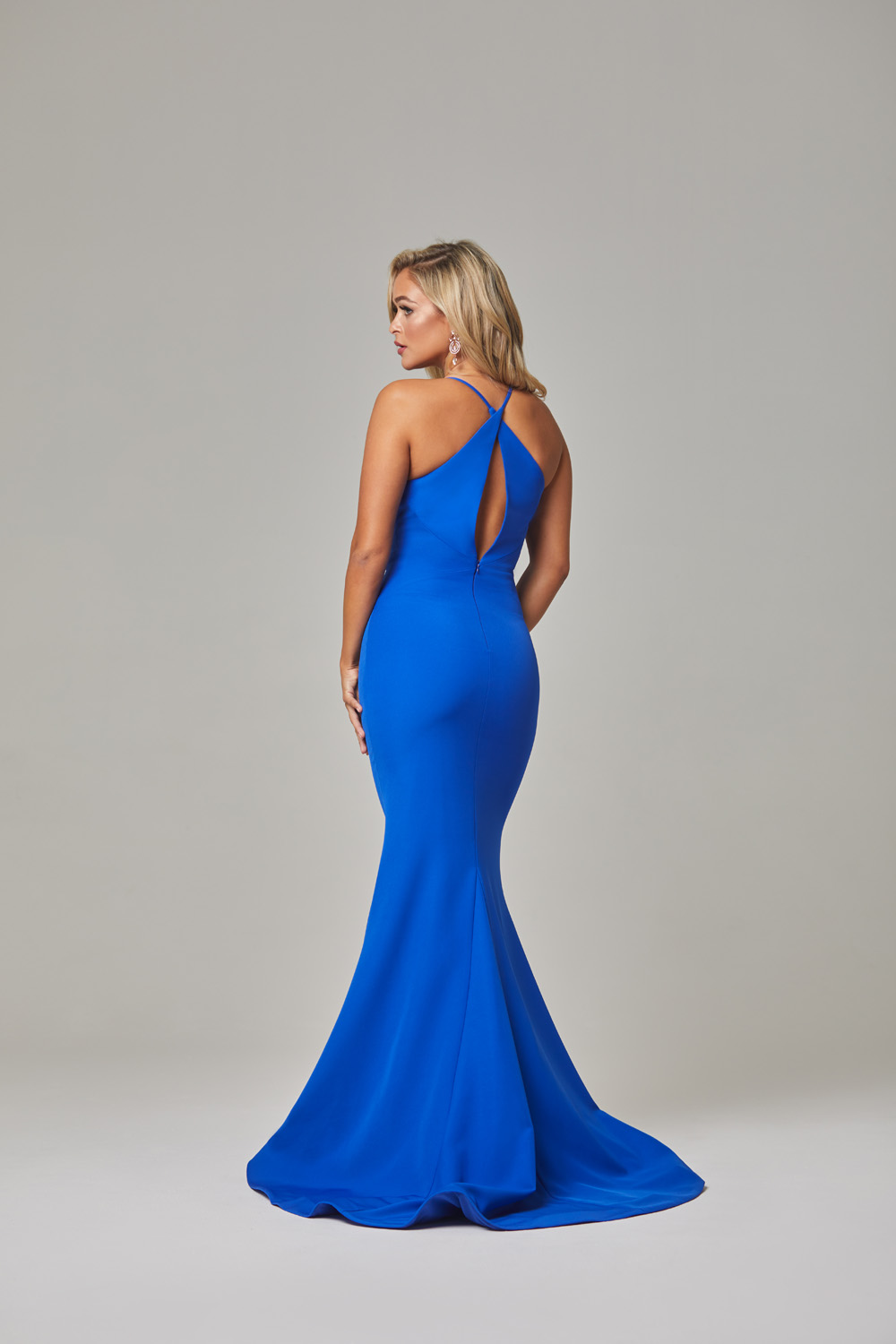 Kendra Evening Dress-Cobalt-back