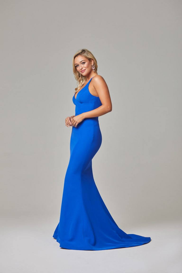 Kendra Evening Dress-Cobalt-side