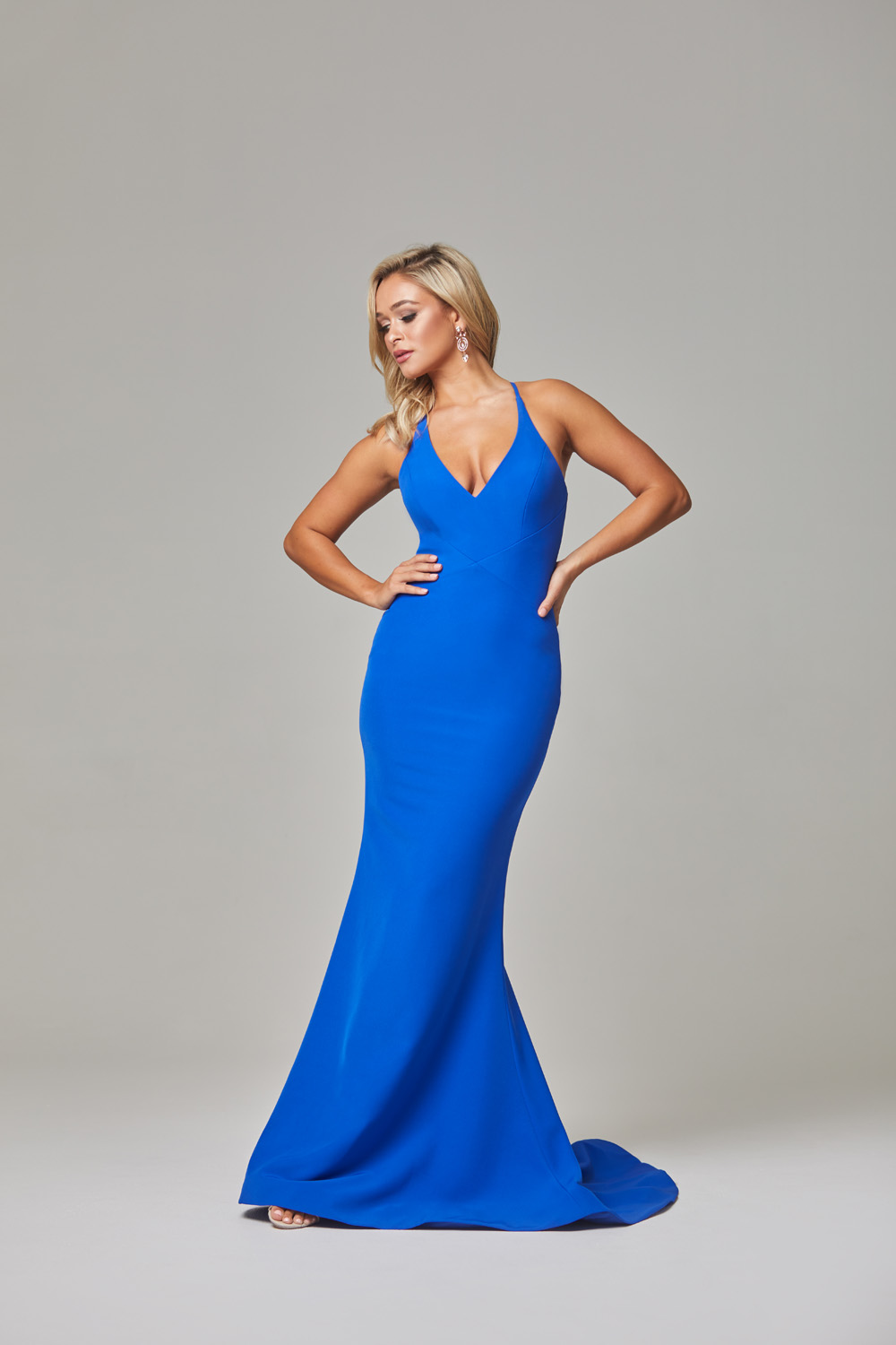 Kendra Evening Dress-Cobalt