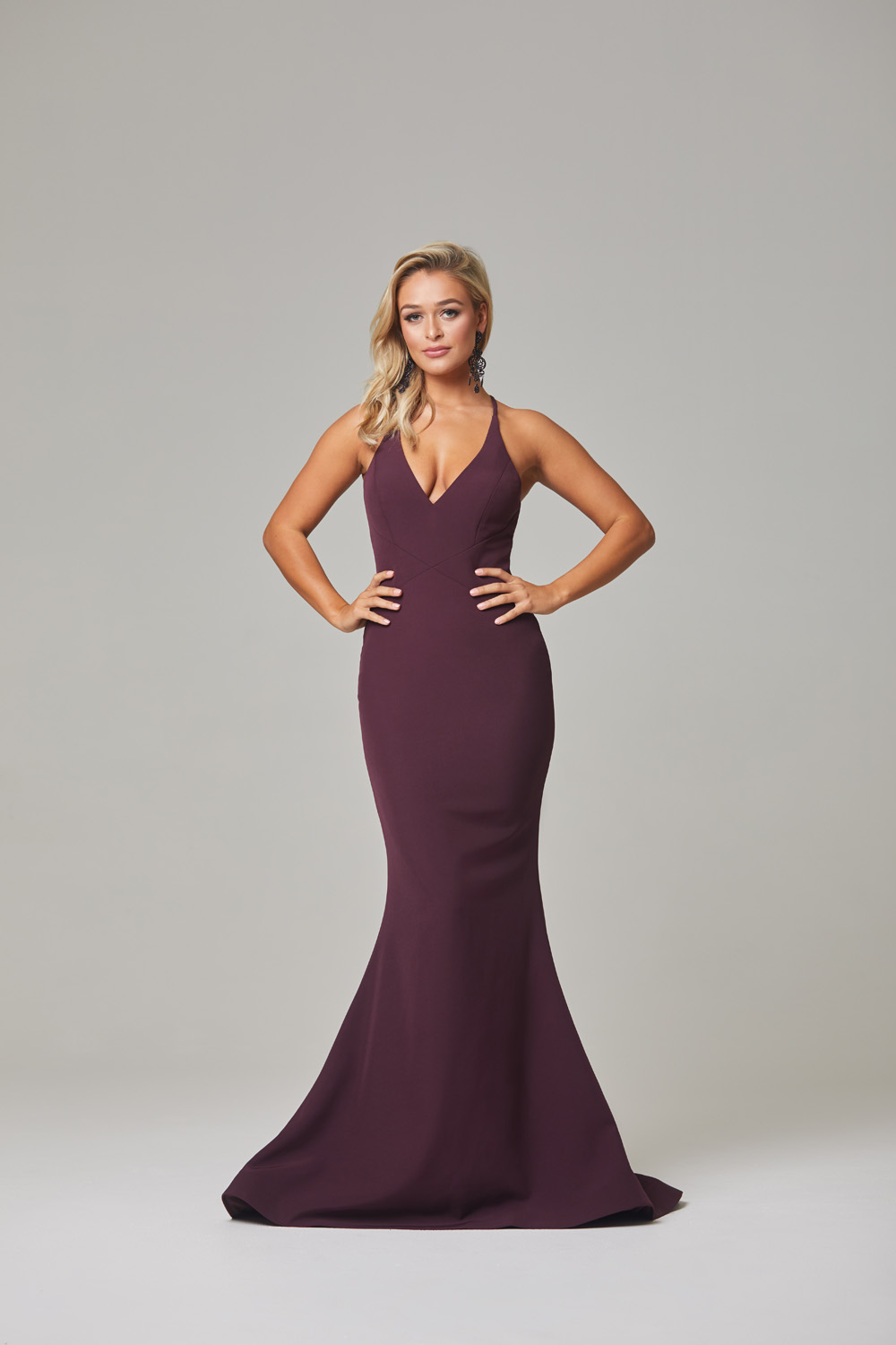 Kendra Evening Dress-Plum