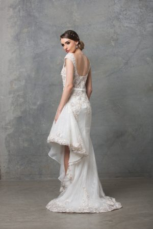 Laurel wedding dress back