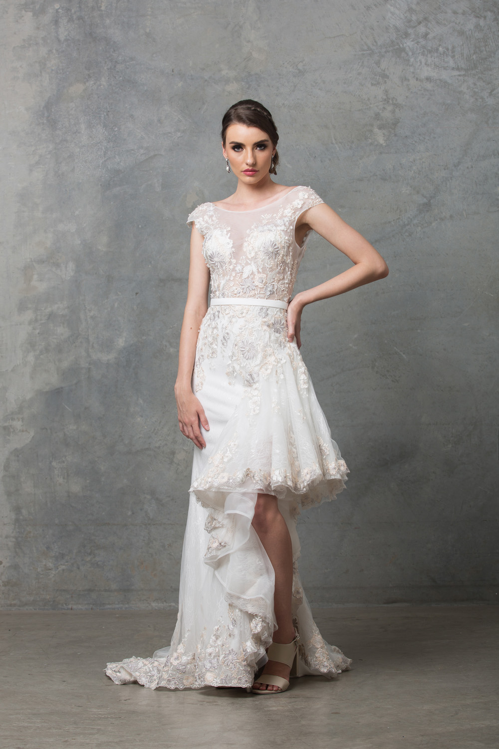 Laurel wedding dress front