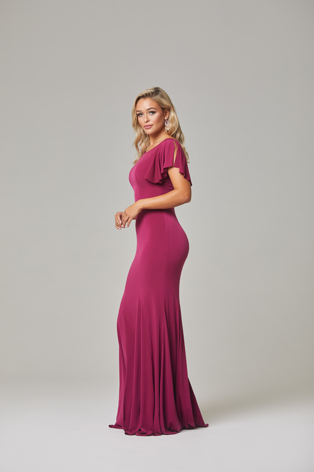 Libby Bridesmaid Dress-Berry-side