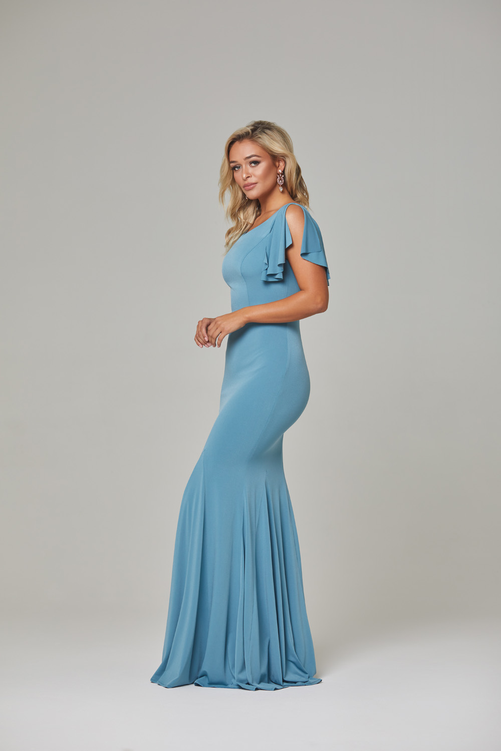 Libby Bridesmaid Dress-Seafoam-side