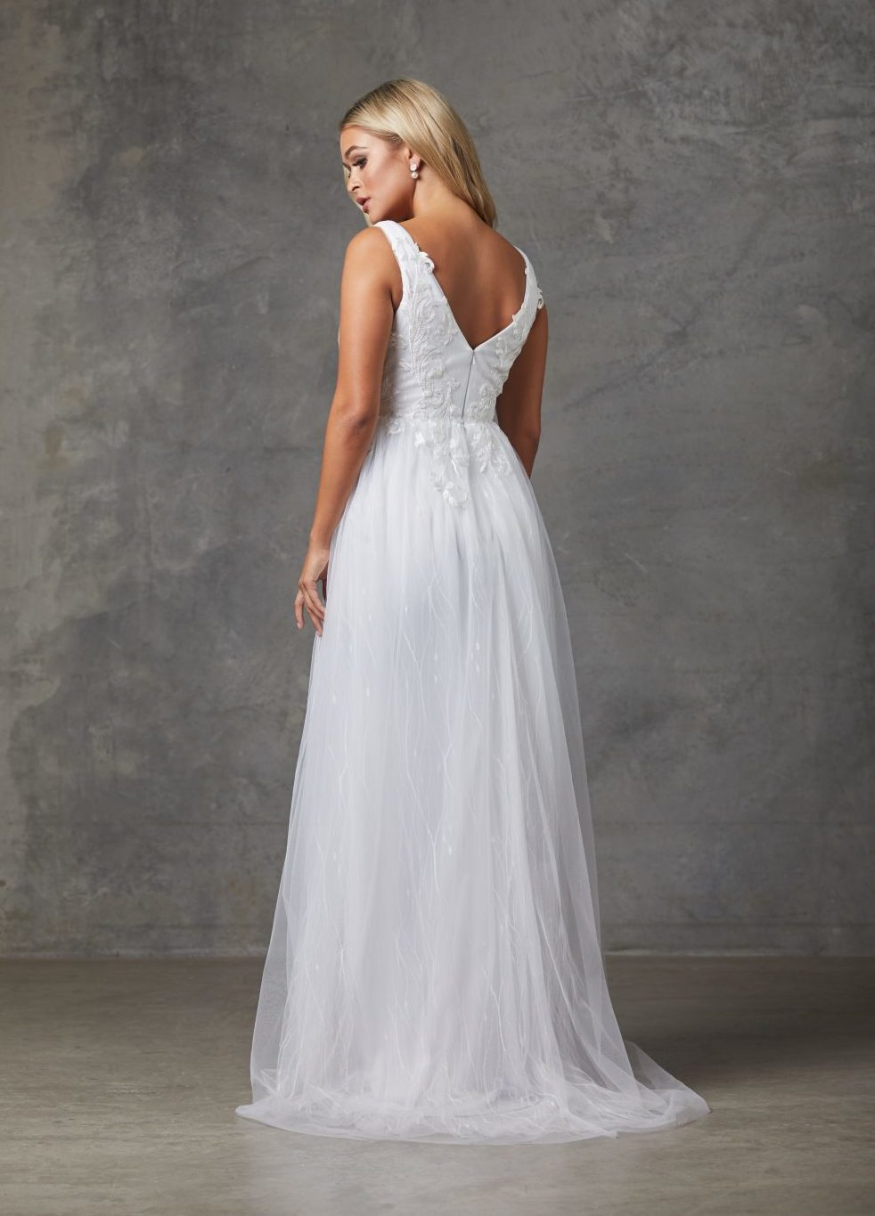 Liv Wedding Dress-Purewhite-back