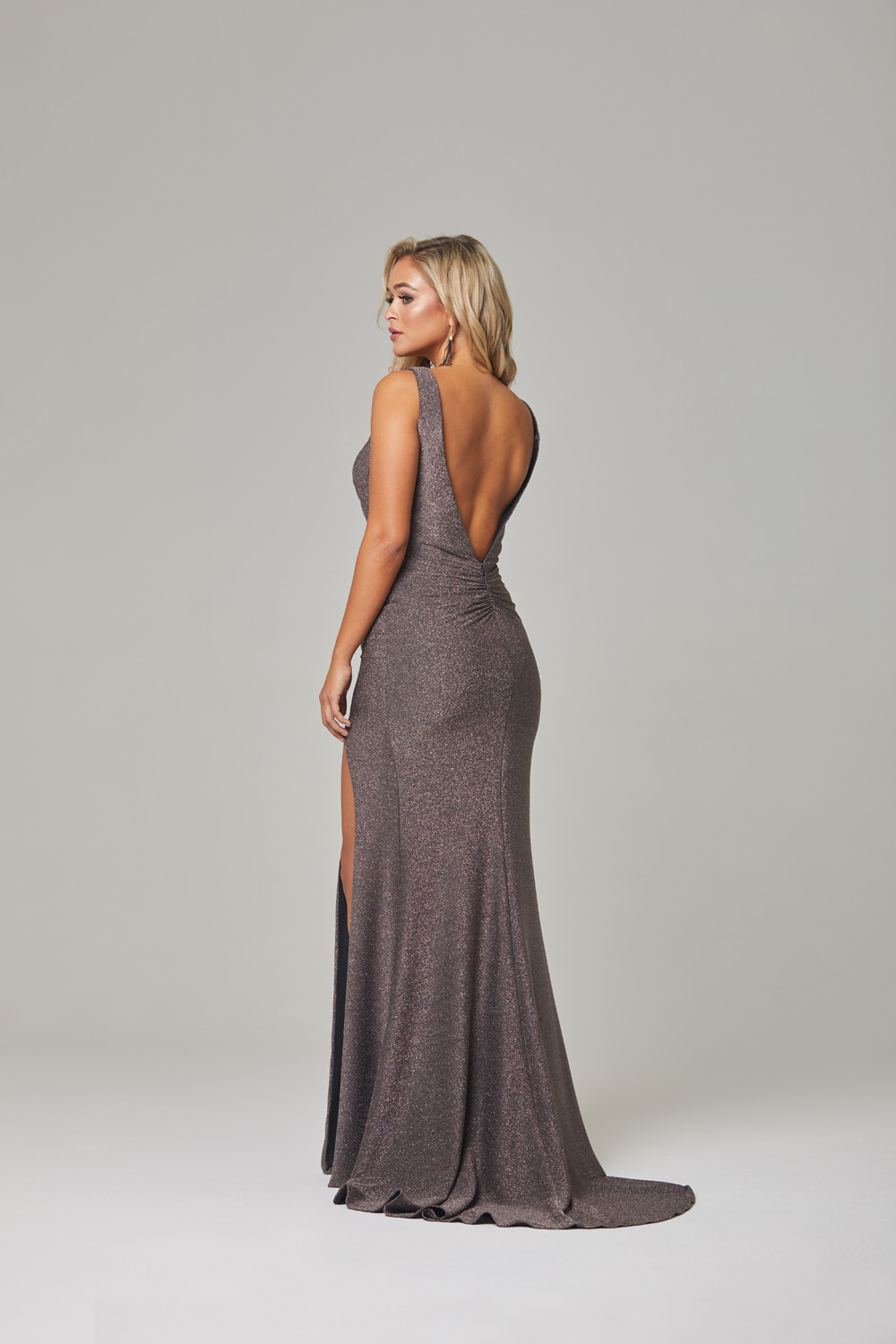 Londyn Evening Dress-lava-back