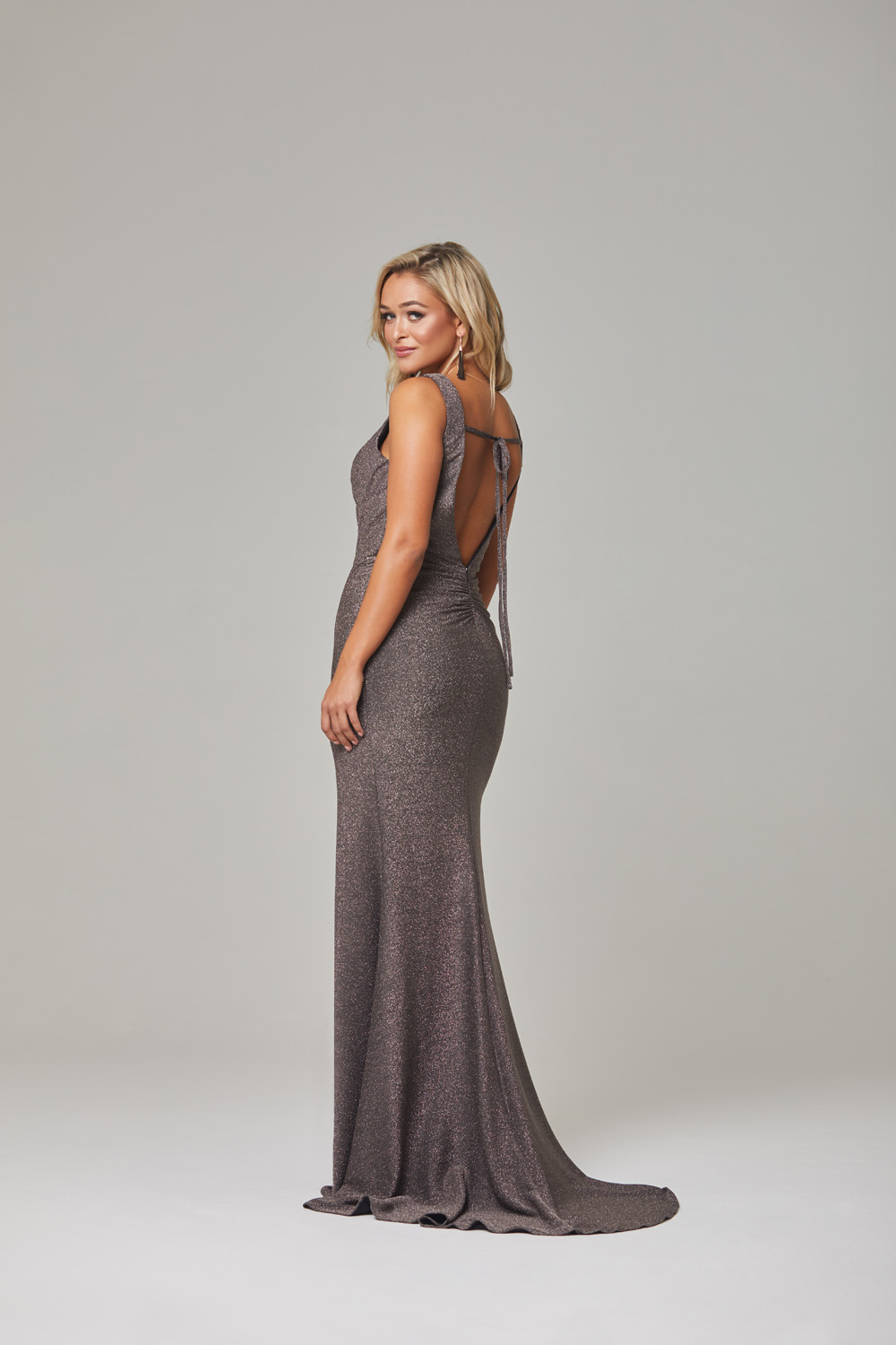 Londyn Evening Dress-lava-backtie