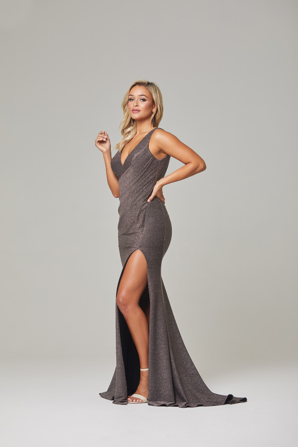 Londyn Evening Dress-lava-side