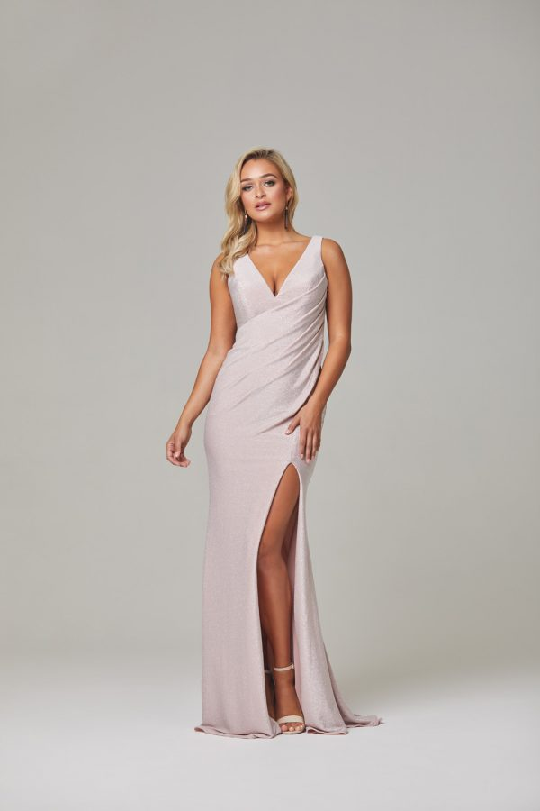 Londyn Evening Dress-rose