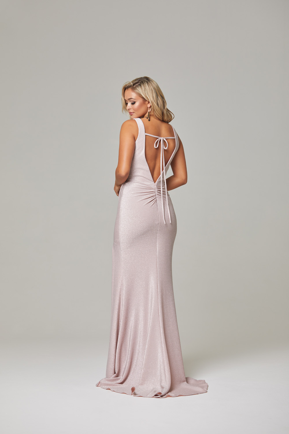 Londyn Evening Dress-rose-back