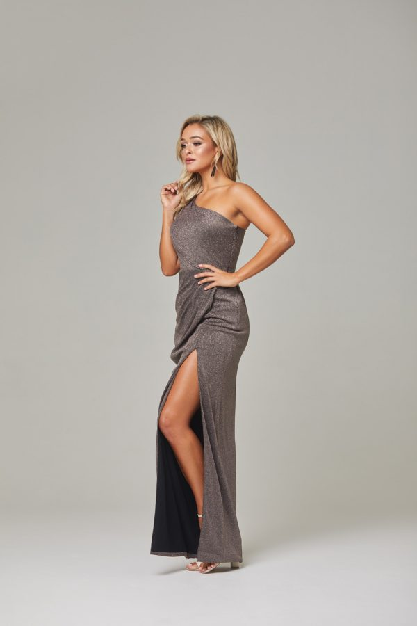 Lori Evening Dress-lava-side