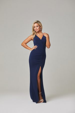 Lucia Bridesmaid Dress-Navy