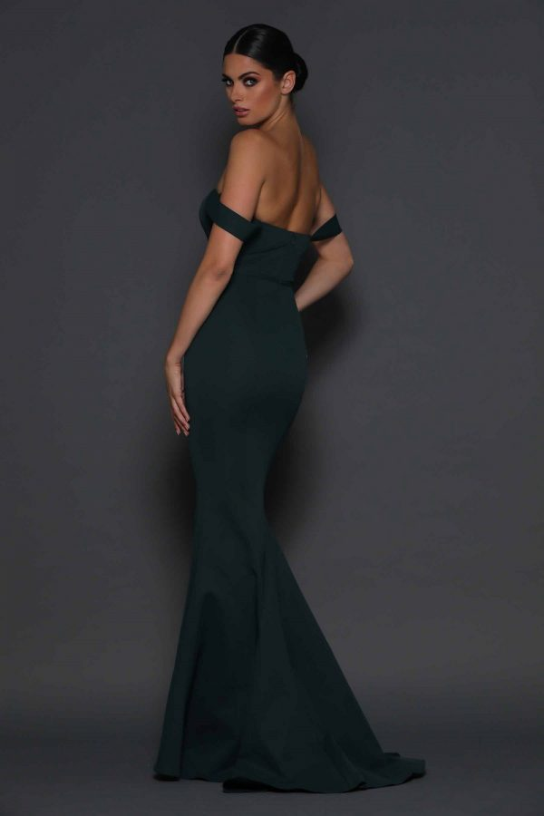Maggie evening dress back