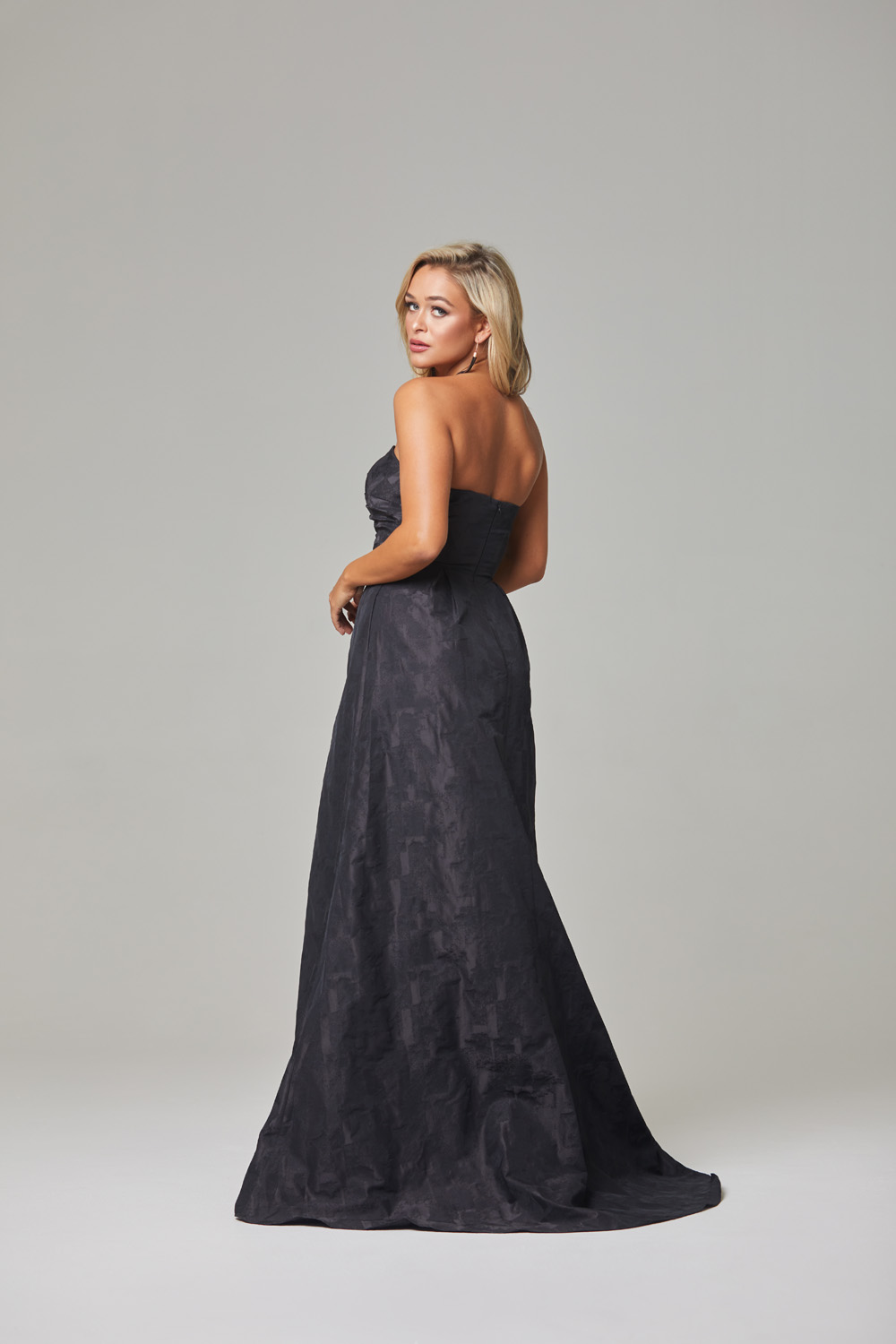 Micha Evening Dress-Black-back