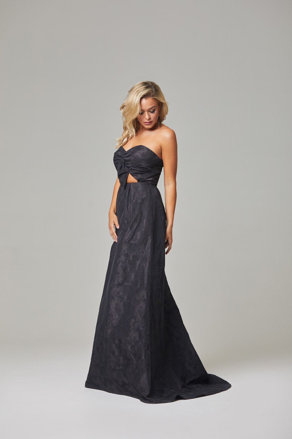 Micha Evening Dress-Black-side