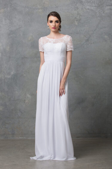 Olivia debutante lace dress