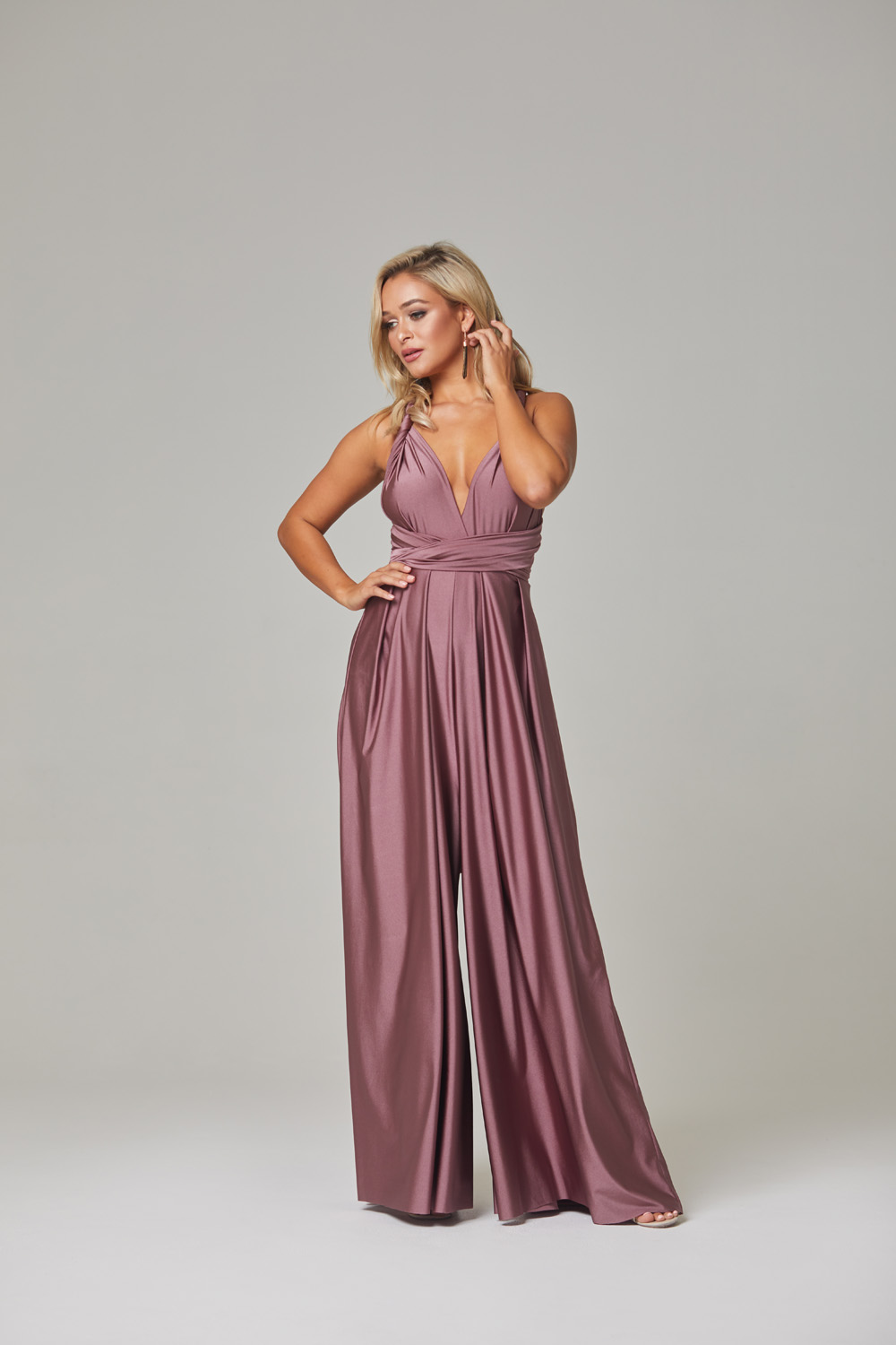Petra Bridesmaid Dress-Tearose-front