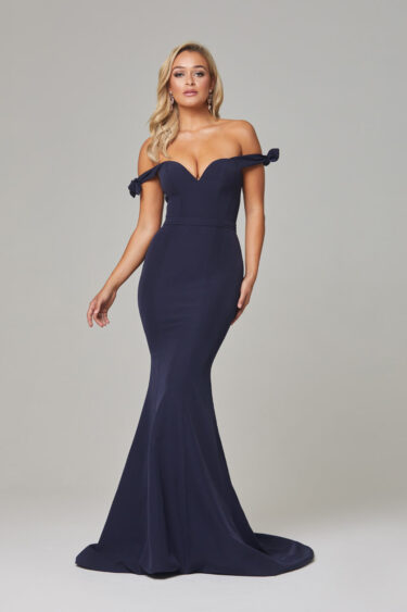Remi Evening Dress-Navy