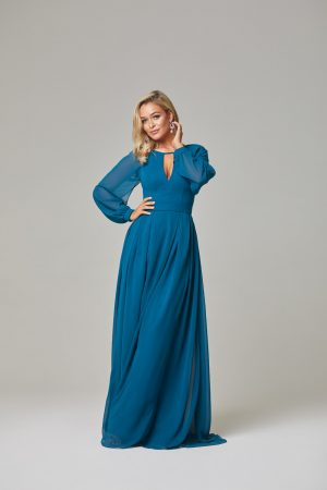 Sariyah Bridesmaid Dress-Teal