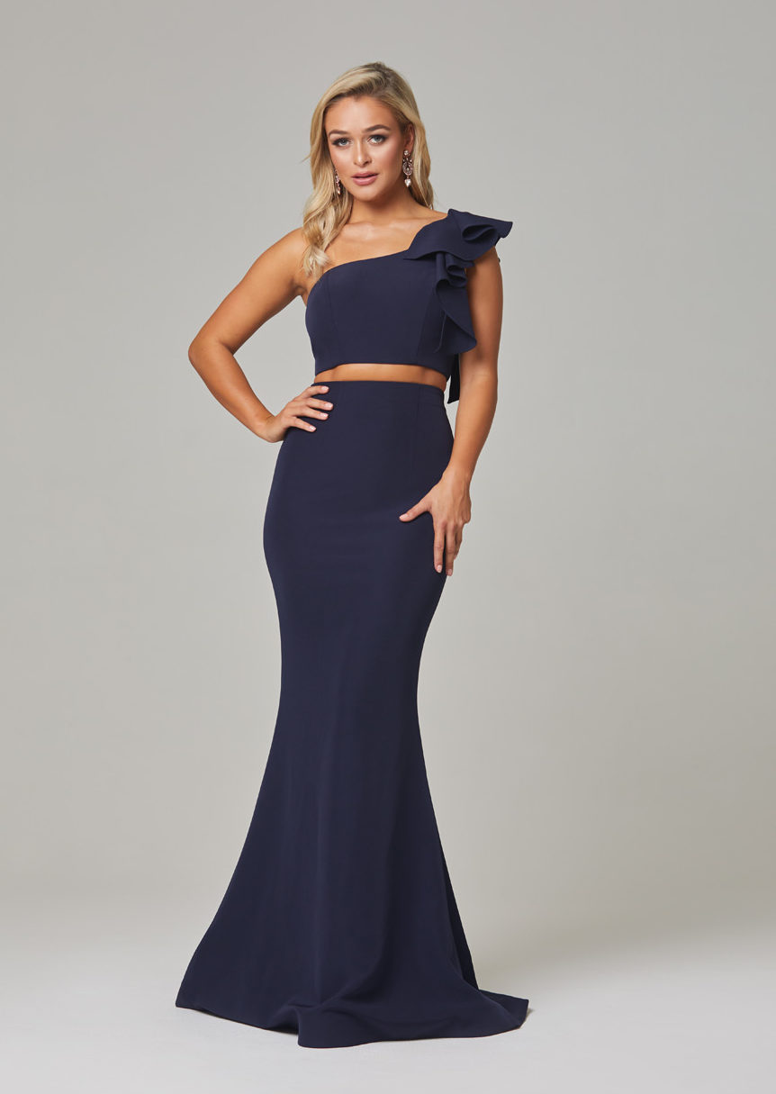 Skyler Evening Dress-Navy