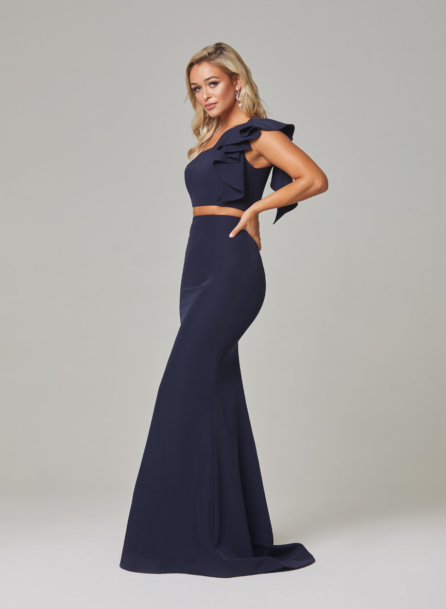 Skyler Evening Dress-navy-side