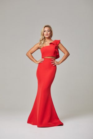 Skyler Evening Dress-Red