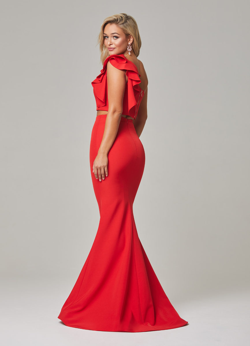 Skyler Evening Dress-Red-back