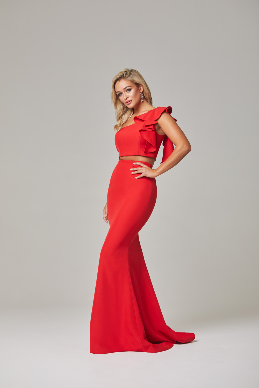 Skyler Evening Dress-Red-side