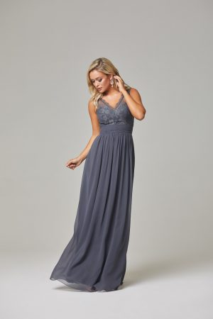Taliyah Bridesmaid Dress-Charcoal