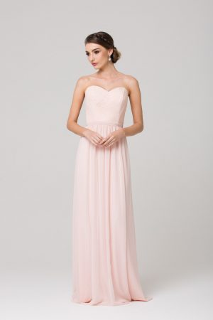 Nikita strapless soft lace bridesmaids dress