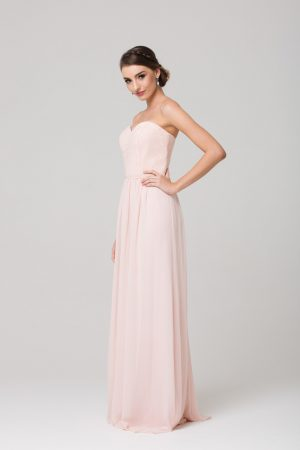 Nakita strapless bridesmaids dress side