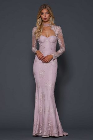 Vena open back formal dress